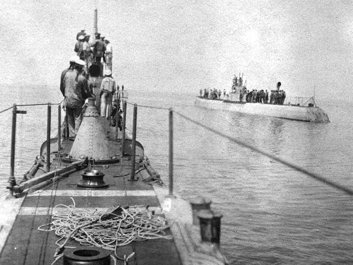 моржи на подводной лодке